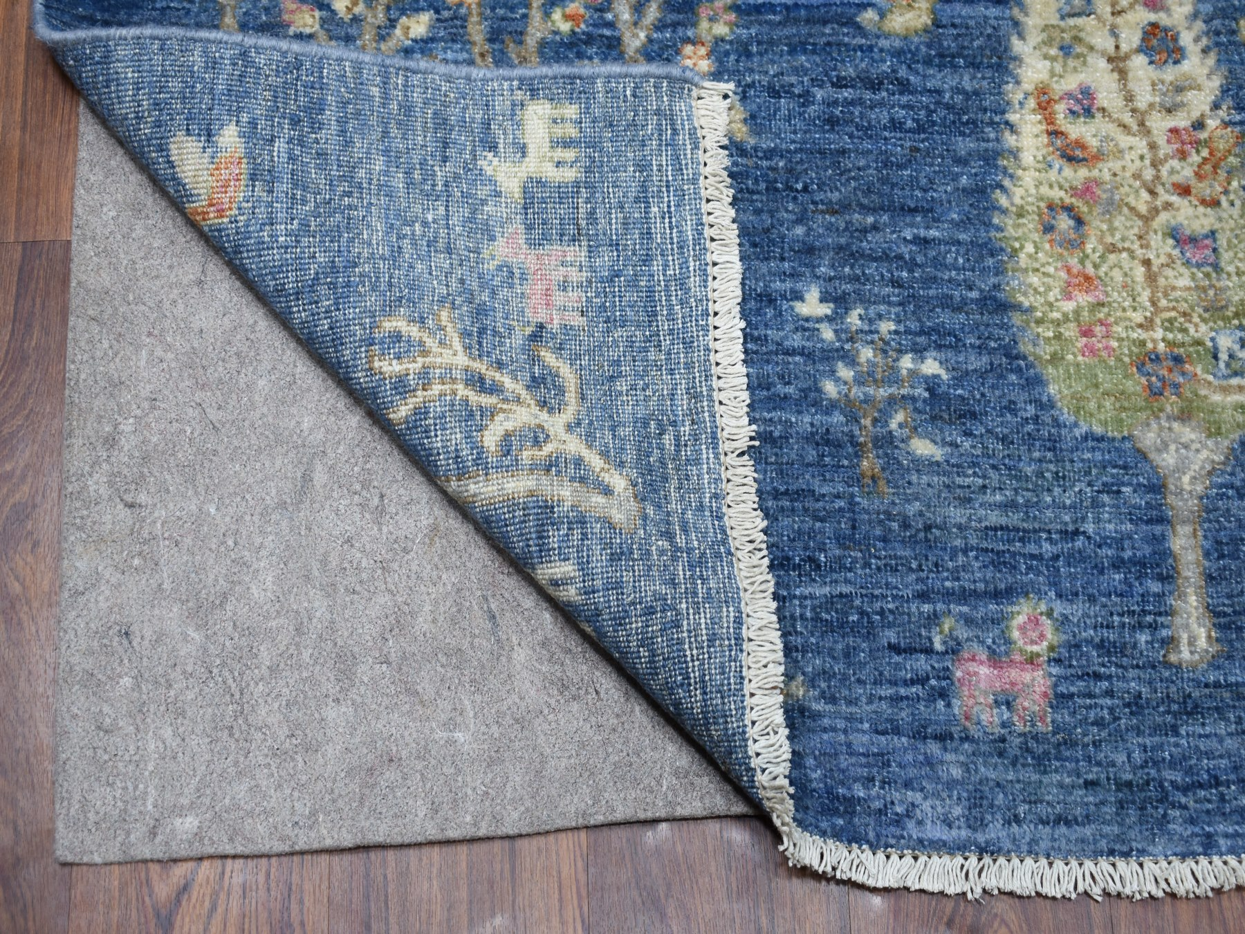 Traditional Wool Hand Knotted Blues Area Rug Peshawar 6'0