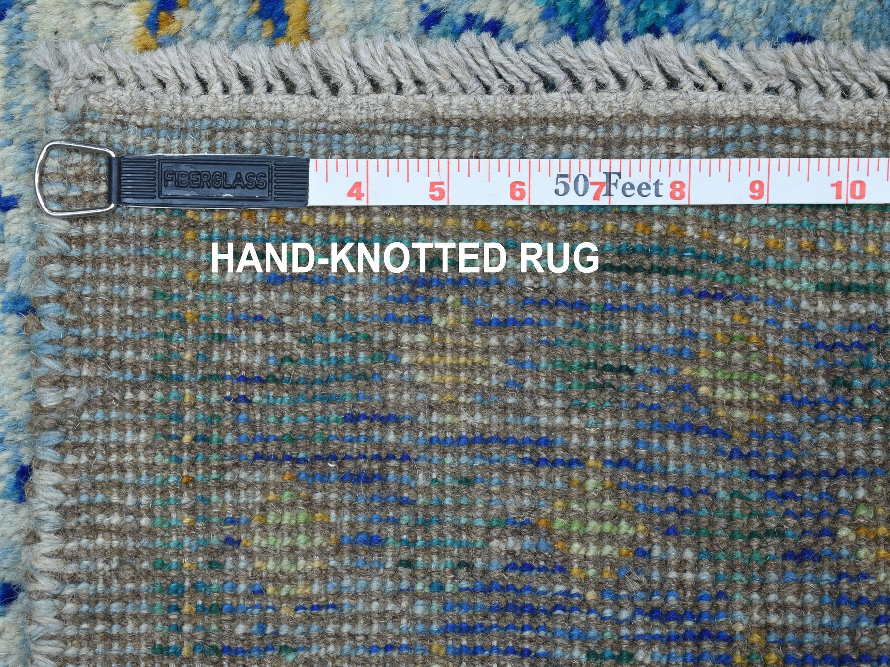 Traditional Wool Hand Knotted Blues Area Rug Baluch 4'1