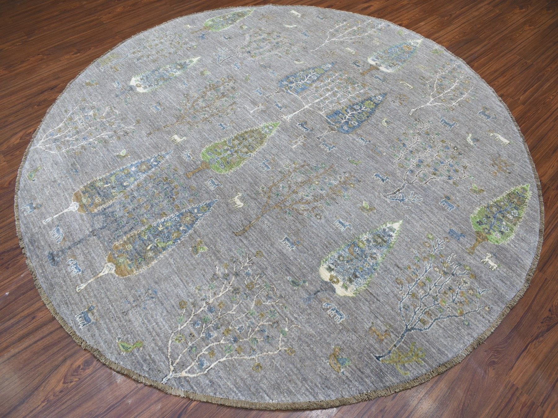 Transitional Wool Hand-Knotted Area Rug 8'2