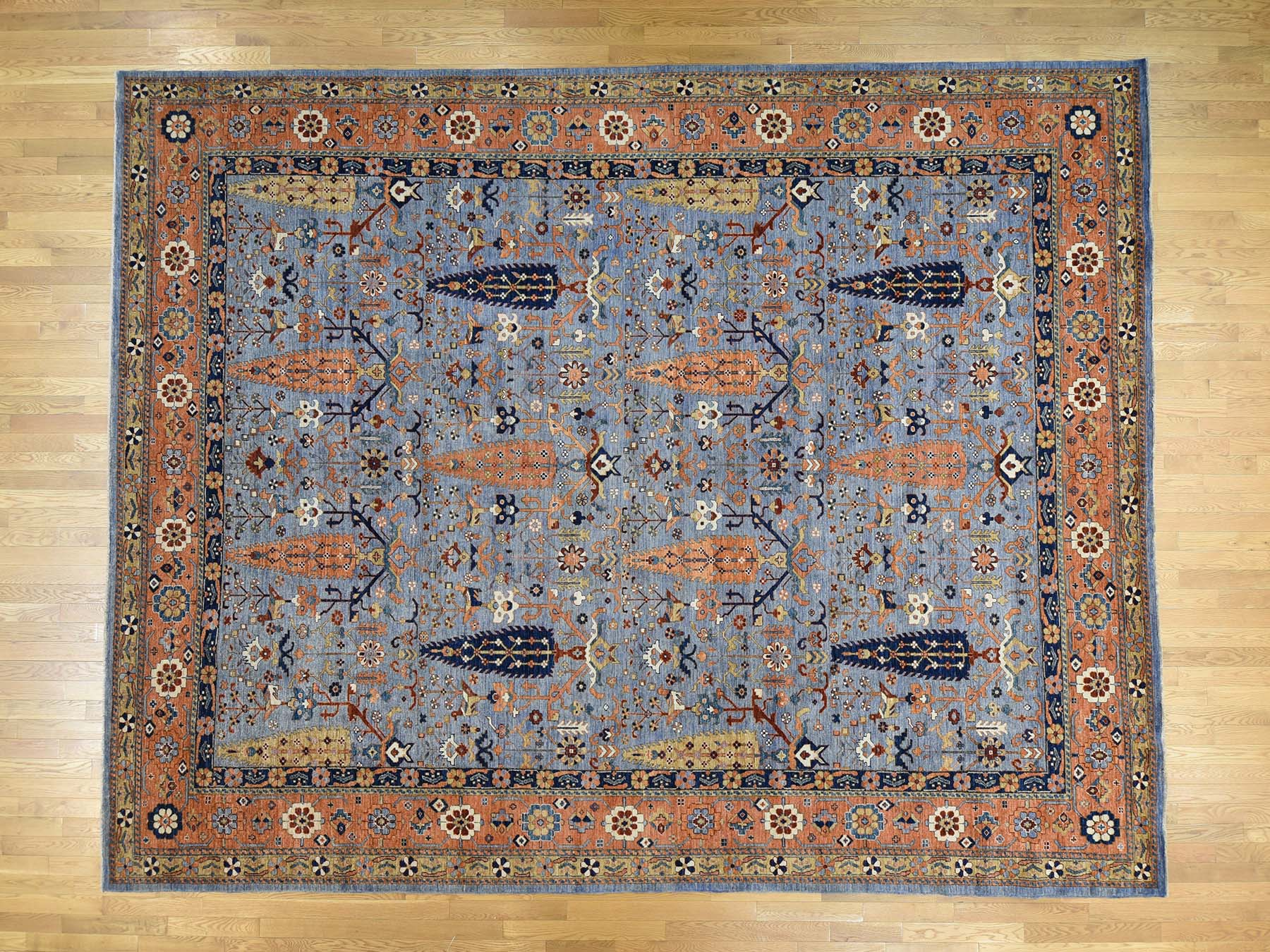Transitional Wool Hand-Knotted Area Rug 11'10