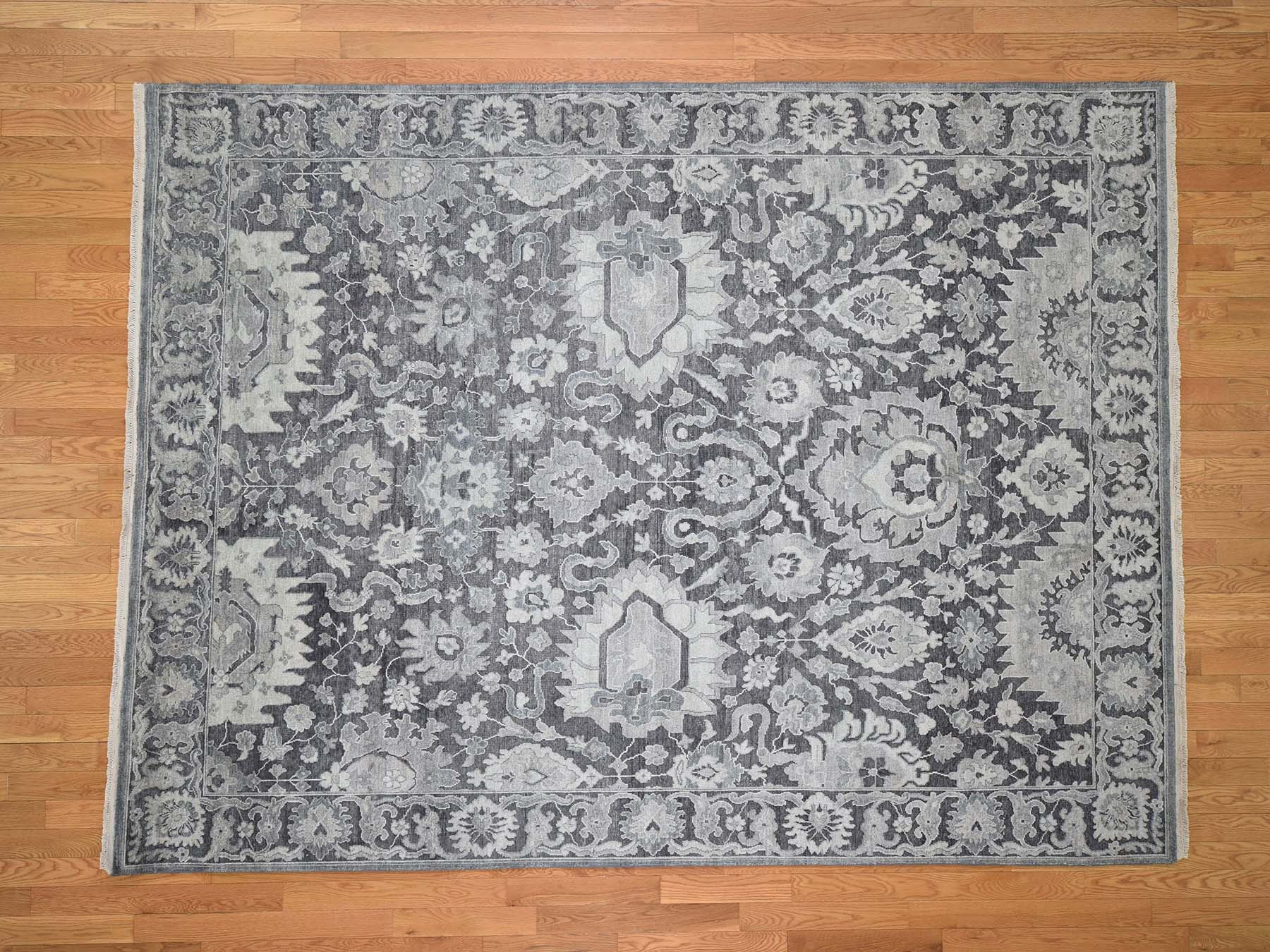 Transitional Silk Hand-Knotted Area Rug 7'10