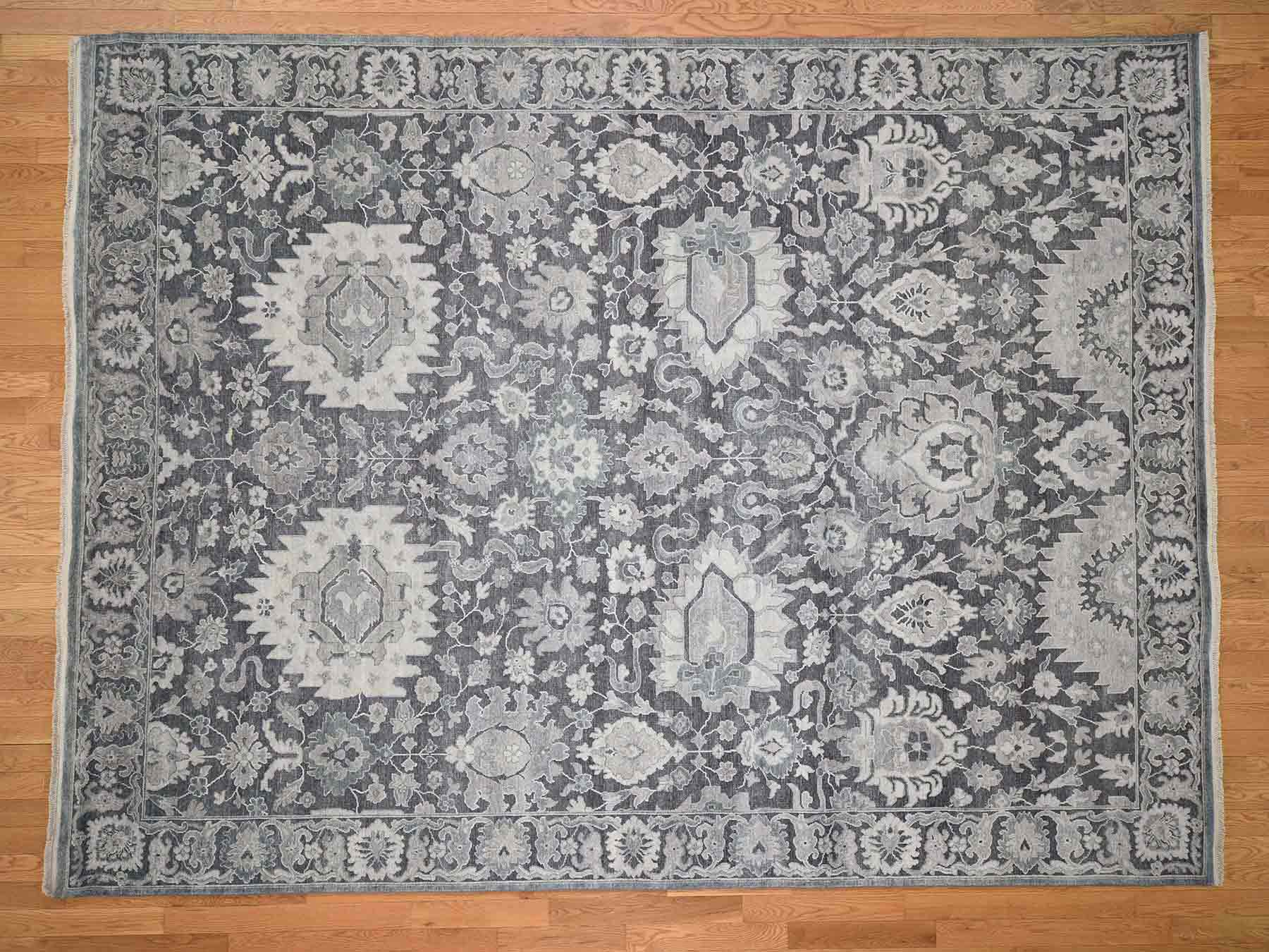 Transitional Silk Hand-Knotted Area Rug 8'10