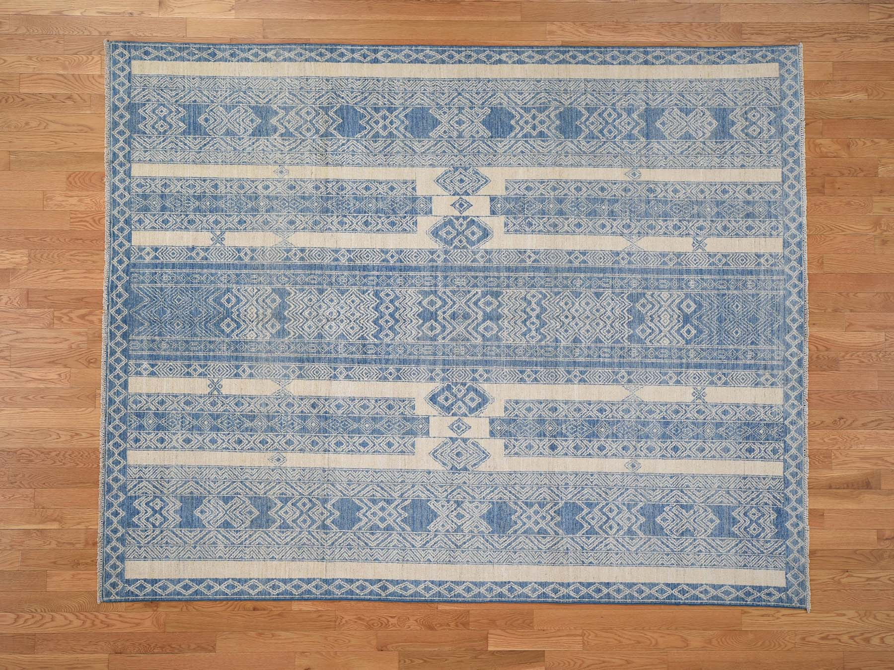 Transitional Wool Hand-Knotted Area Rug 7'10