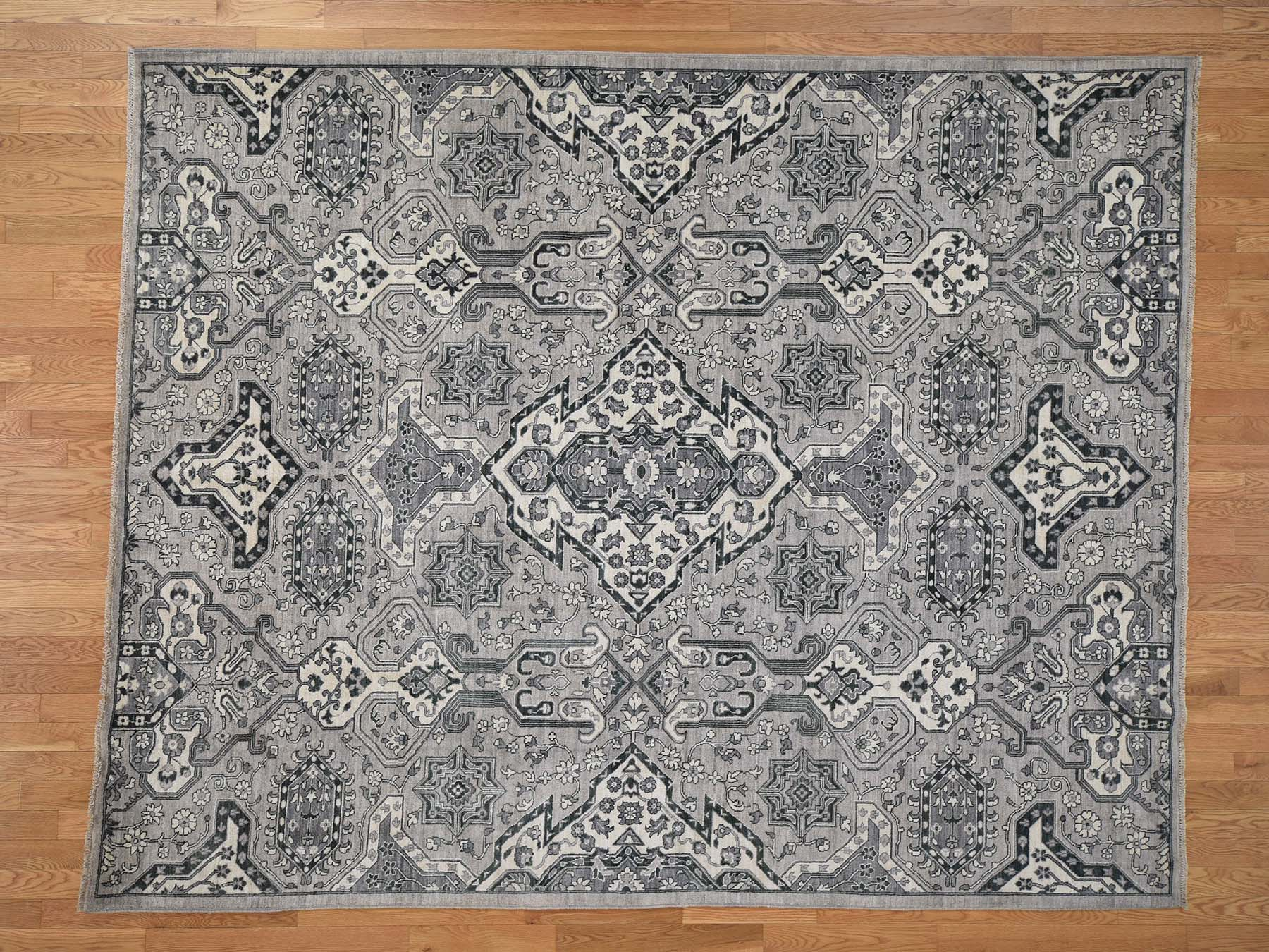 Transitional Wool Hand-Knotted Area Rug 8'4