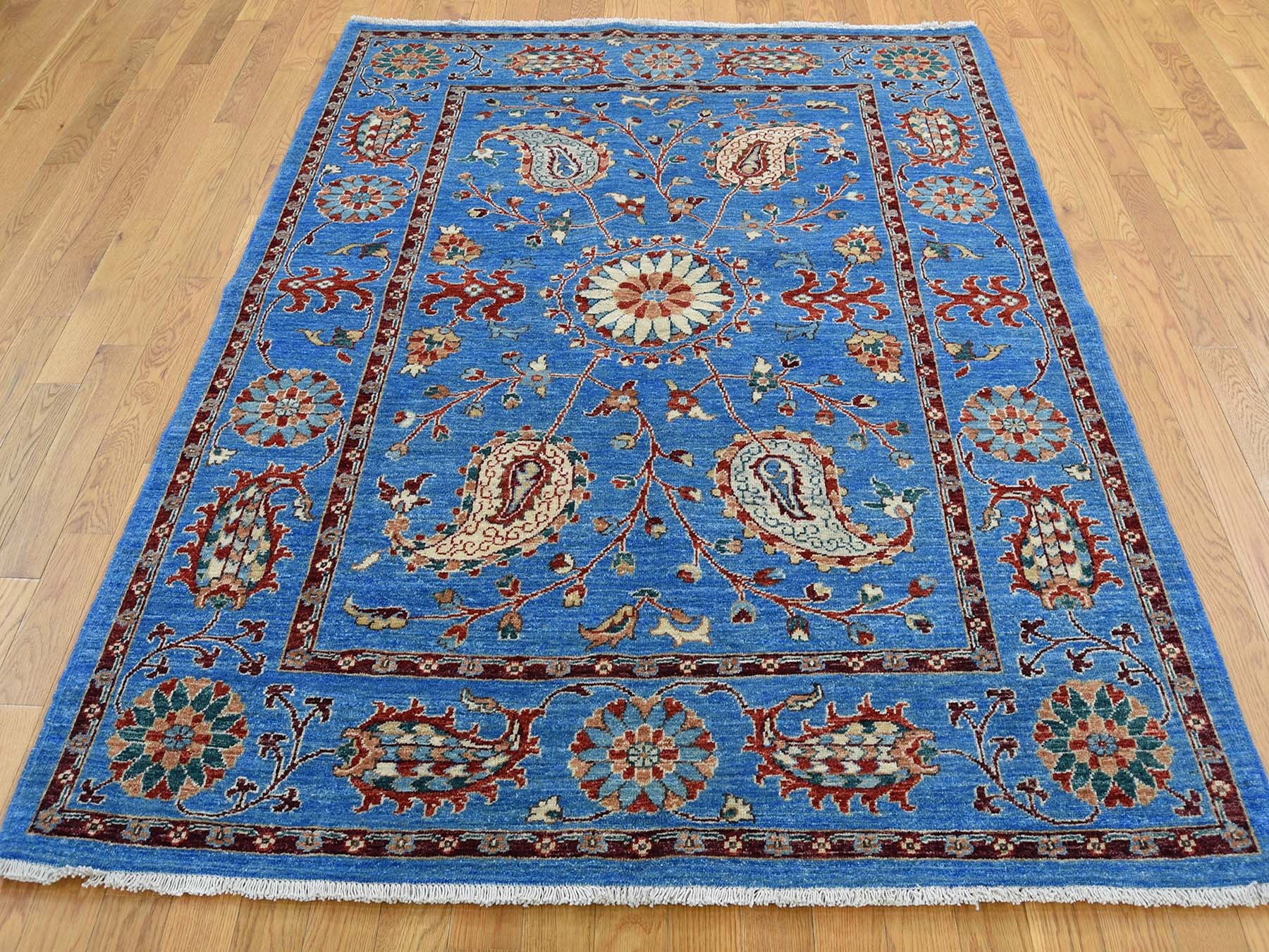 Transitional Wool Hand-Knotted Area Rug 5'2