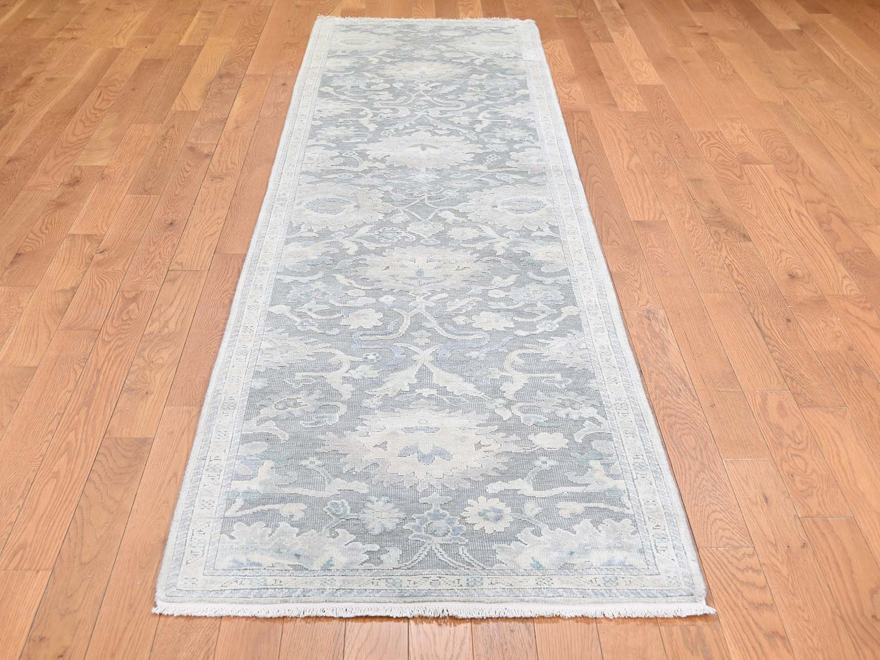 Transitional Silk Hand-Knotted Area Rug 2'6