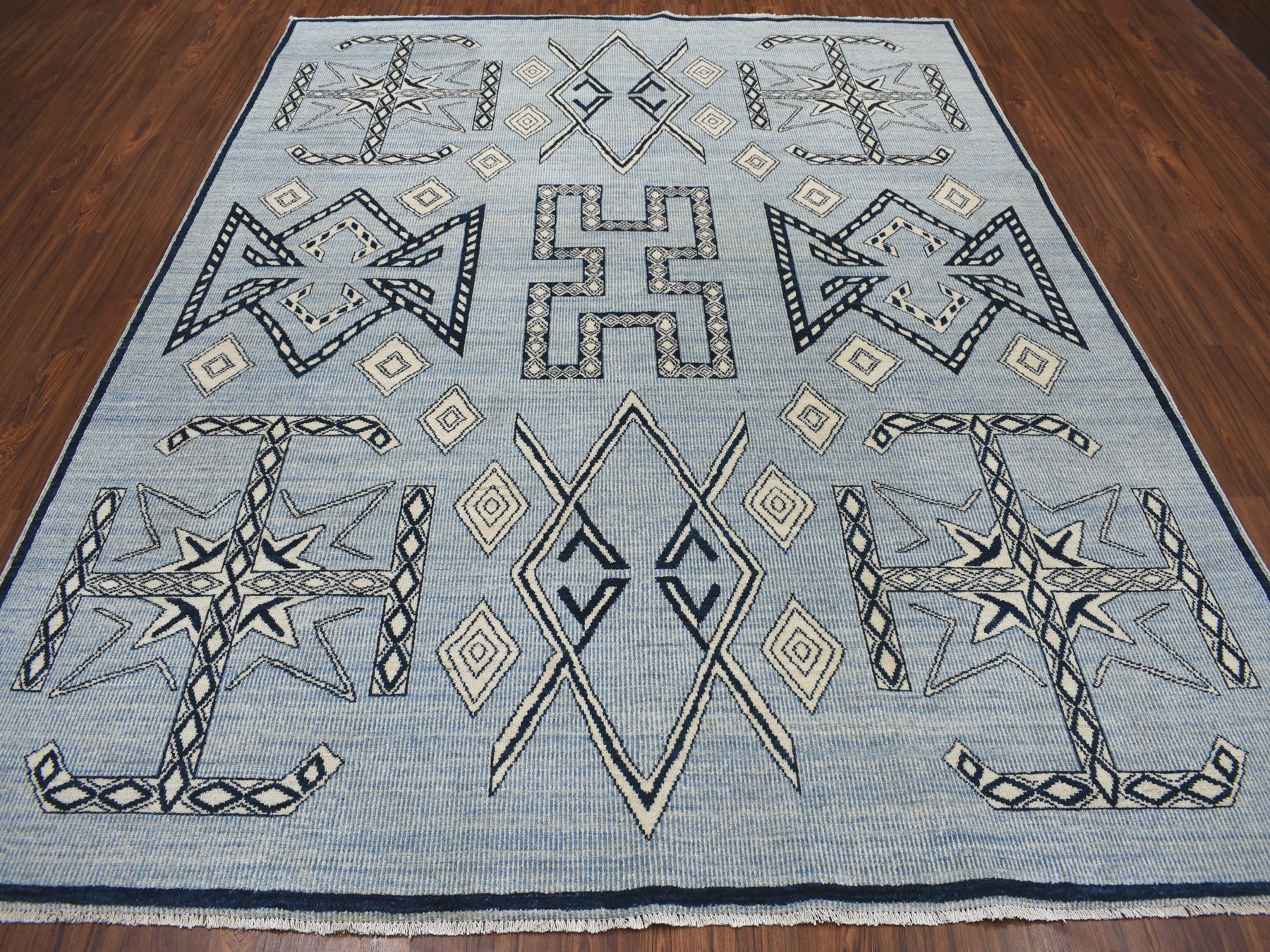 Transitional Wool Hand-Knotted Area Rug 7'9