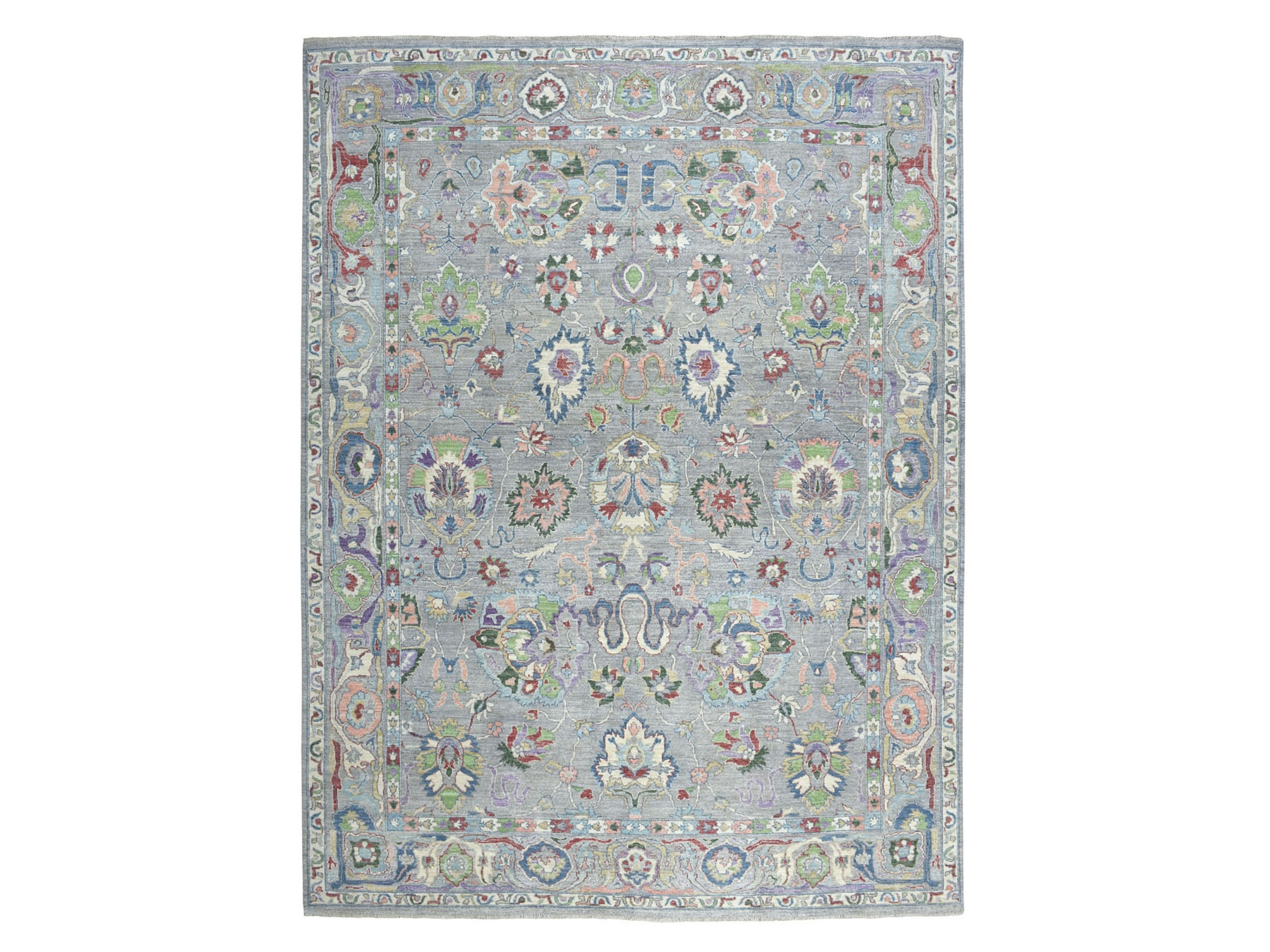 Transitional Wool Hand-Knotted Area Rug 9'0