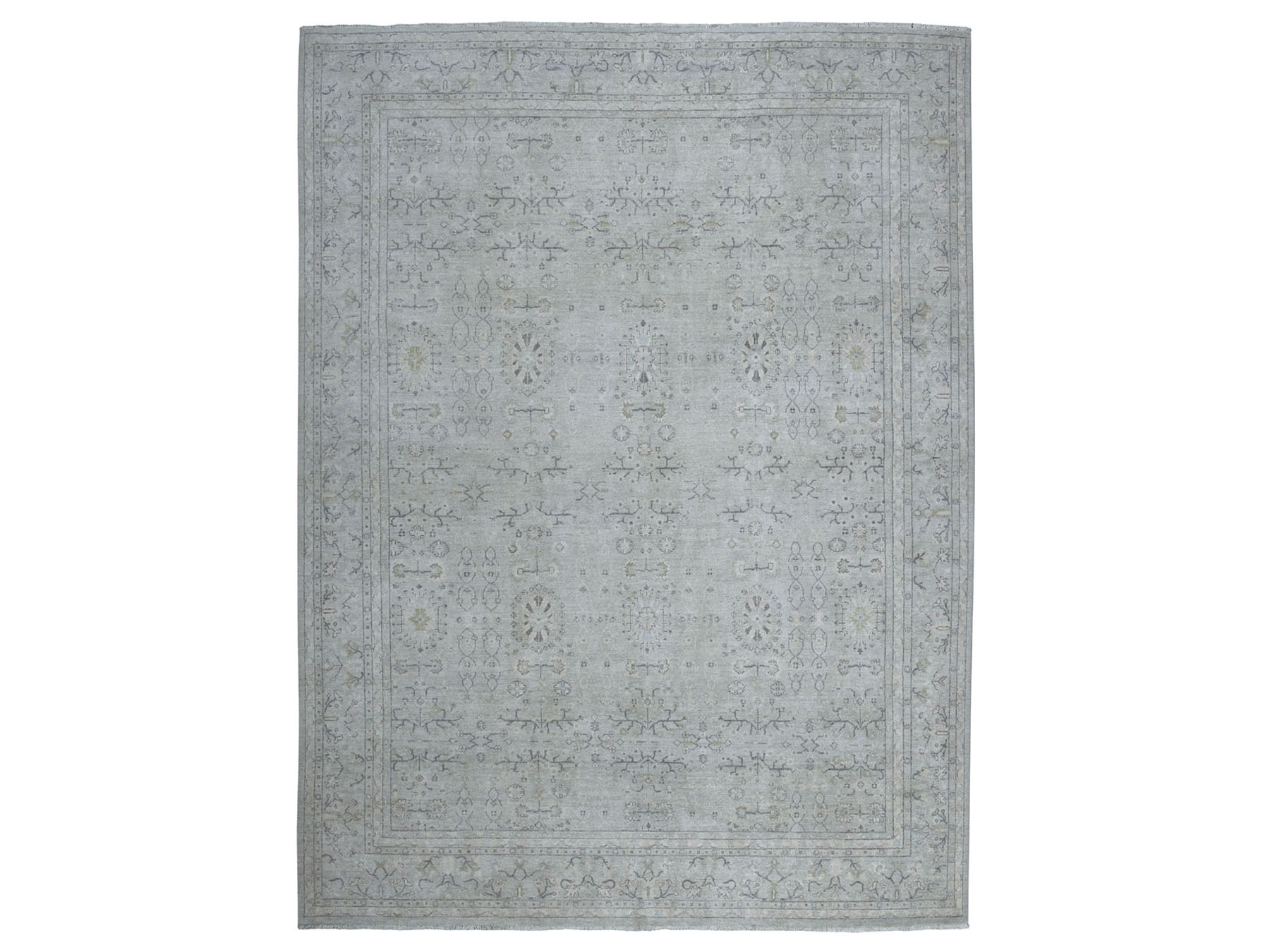 Transitional Wool Hand-Knotted Area Rug 8'9
