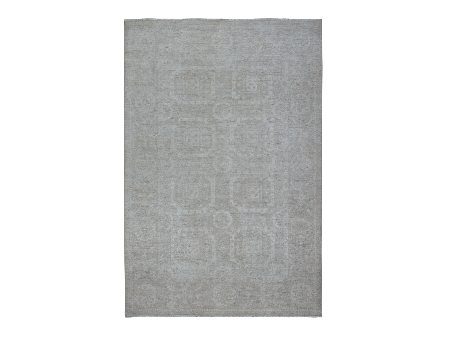 Transitional Wool Hand-Knotted Area Rug 6'0