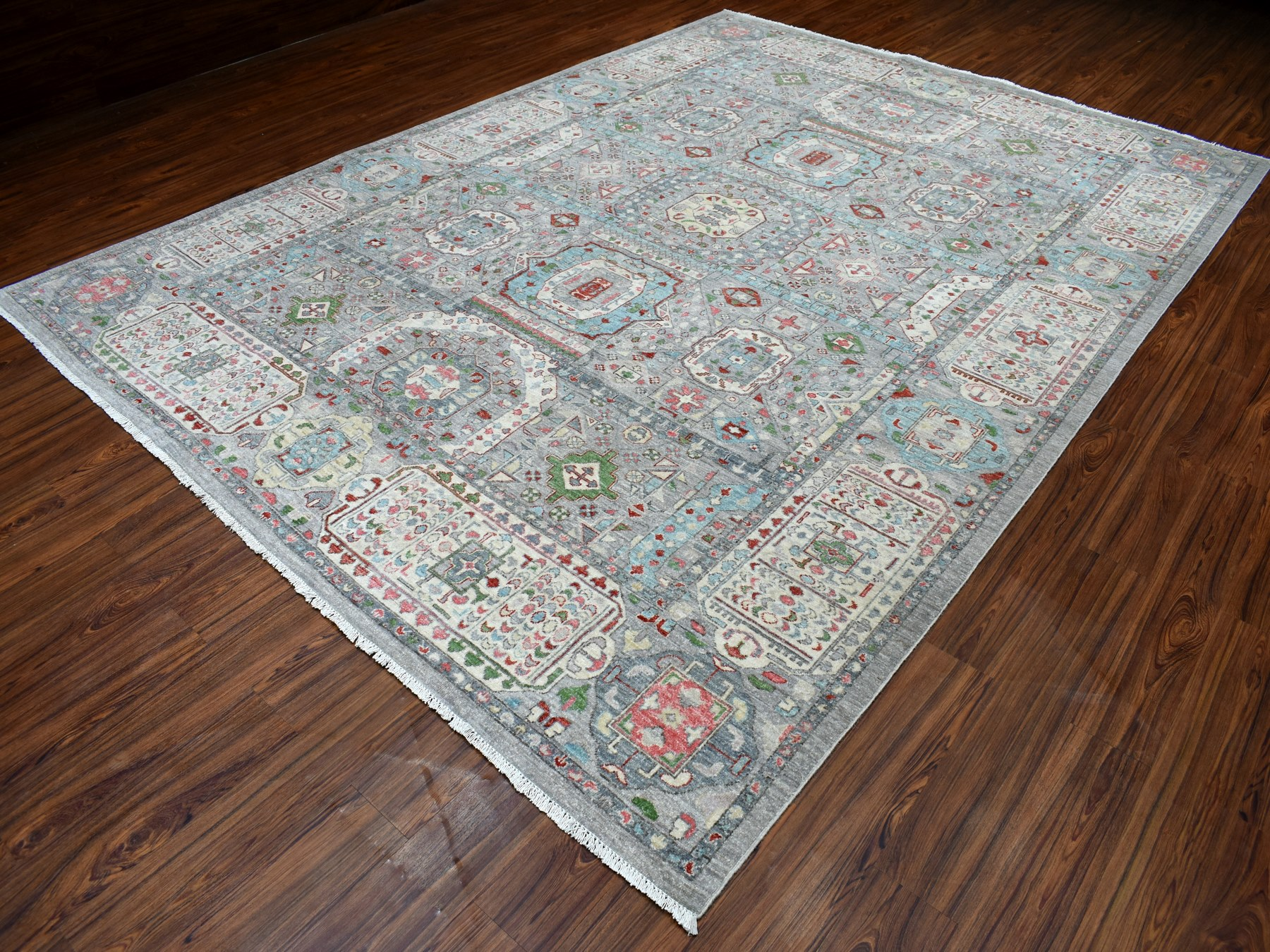 Transitional Wool Hand-Knotted Area Rug 8'10