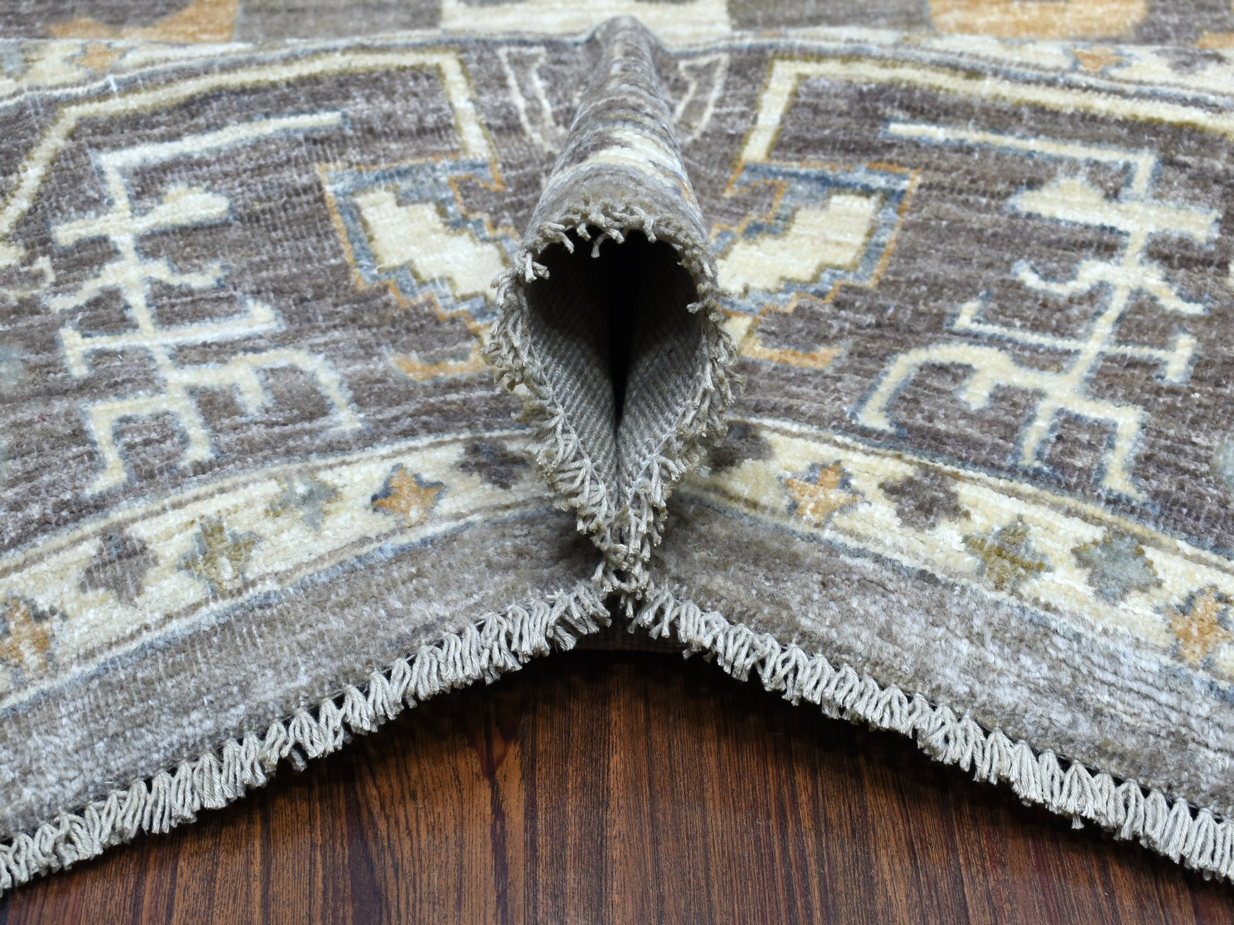 Transitional Wool Hand-Knotted Area Rug 10'0