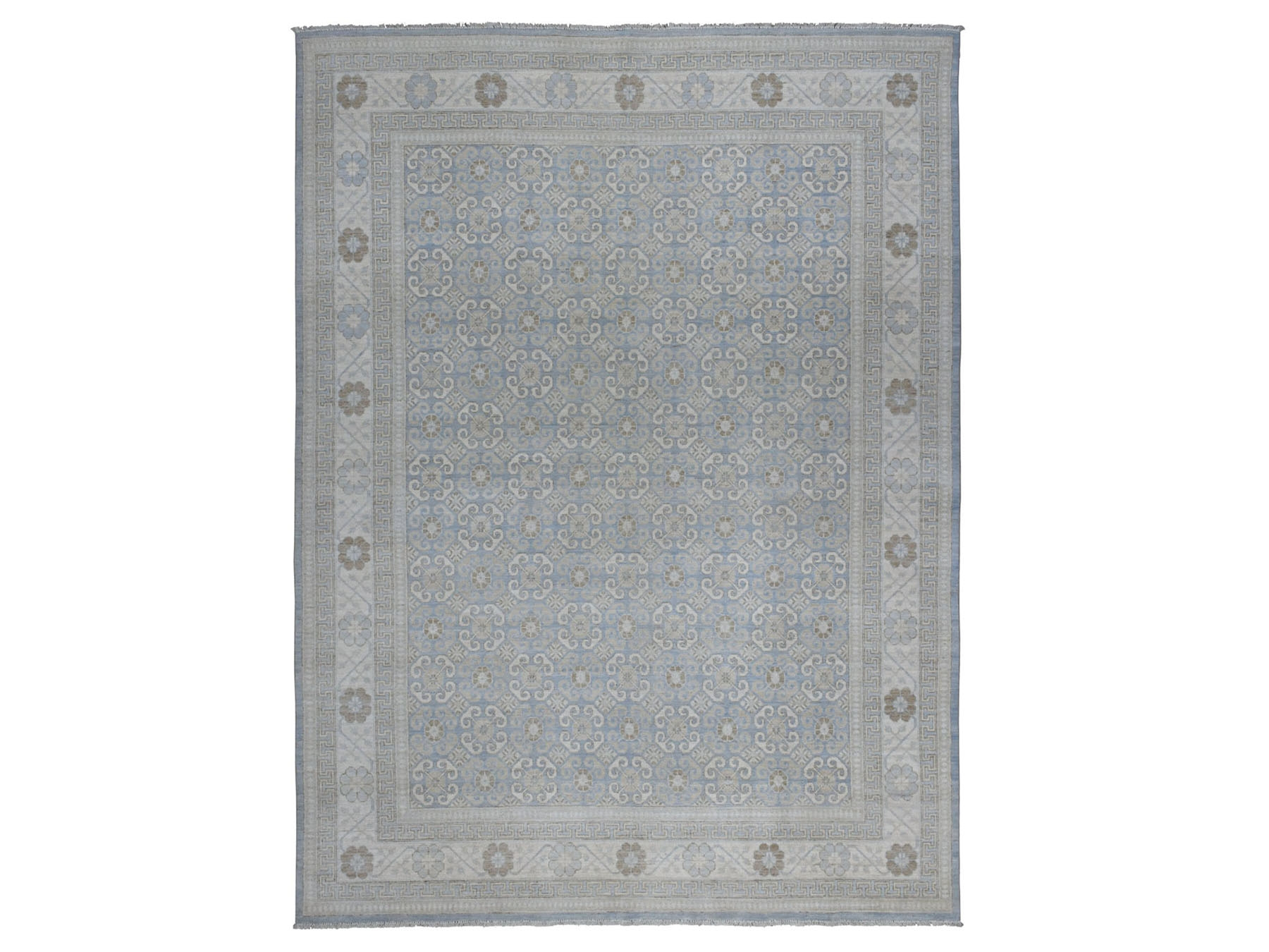Traditional Wool Hand-Knotted Area Rug 8'10