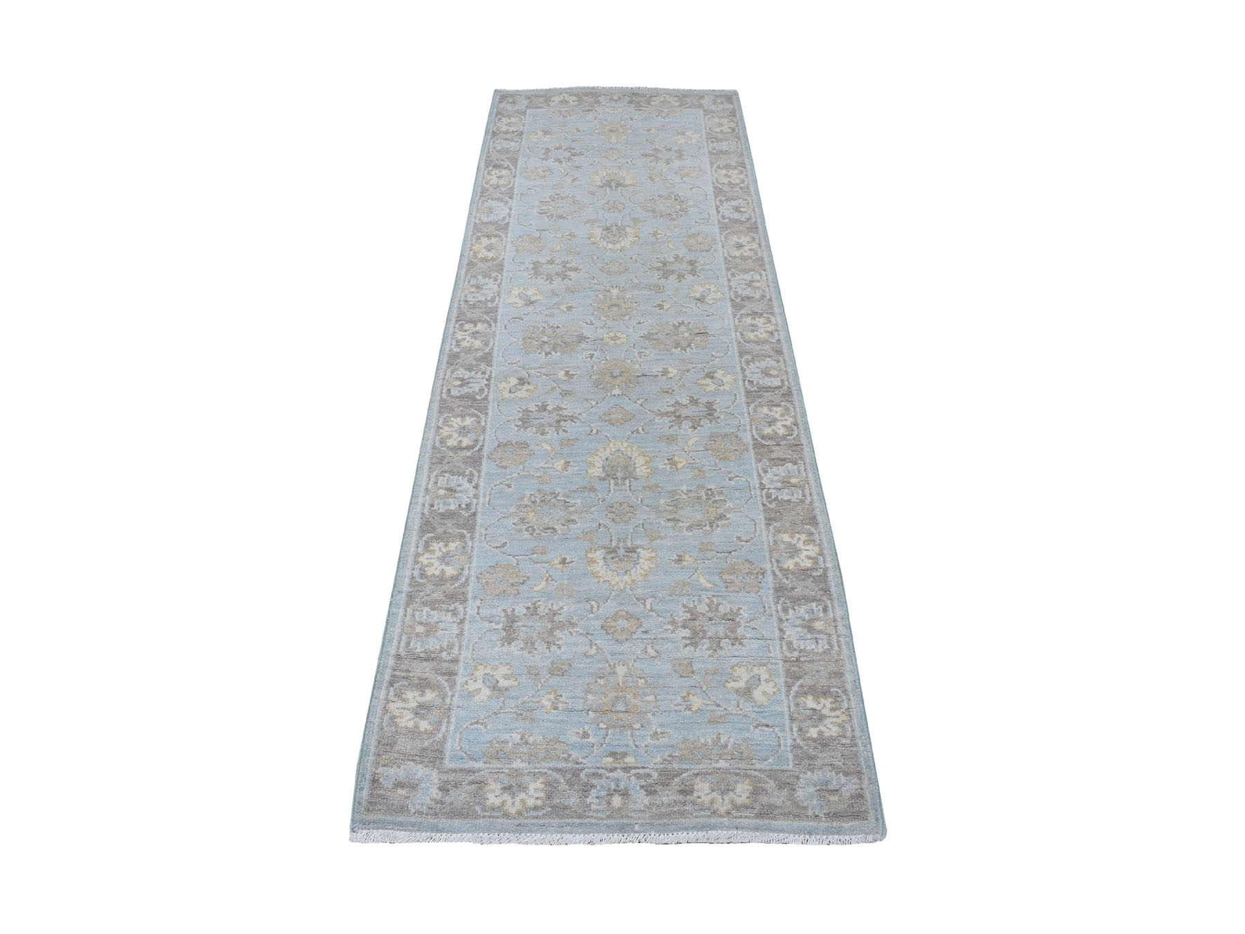 Traditional Wool Hand-Knotted Area Rug 2'7