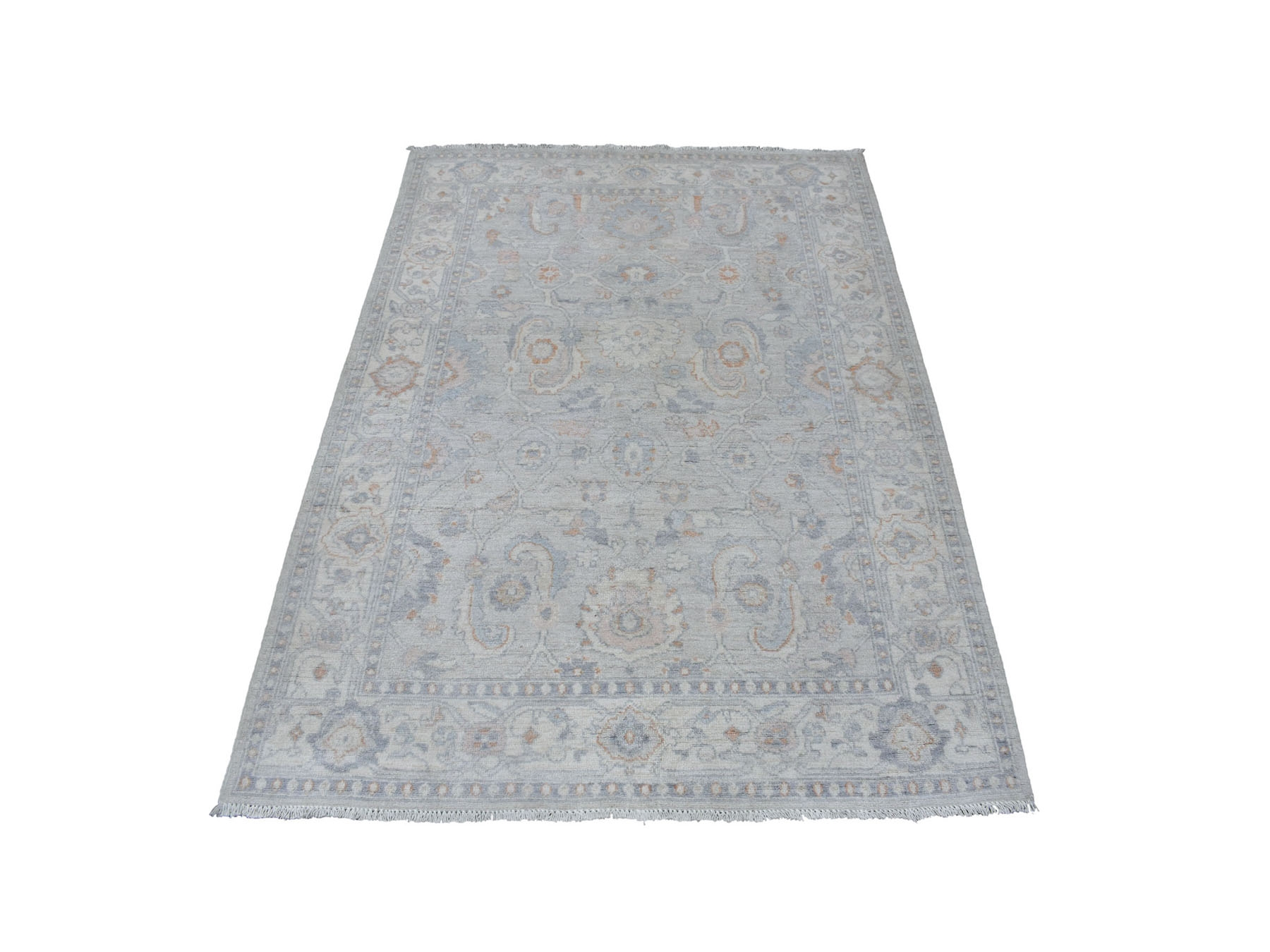 Traditional Wool Hand-Knotted Area Rug 4'2