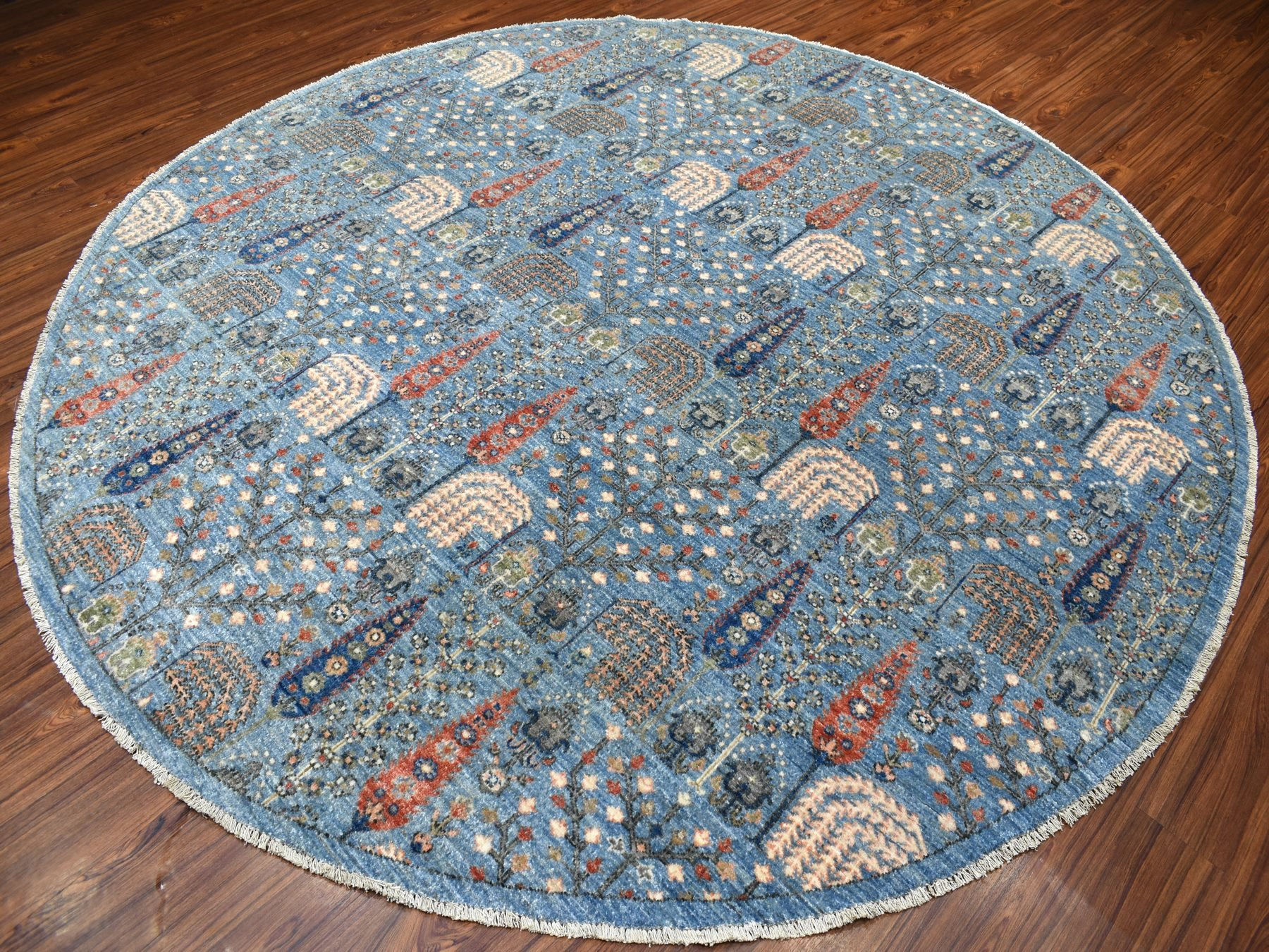 Transitional Wool Hand-Knotted Area Rug 9'4