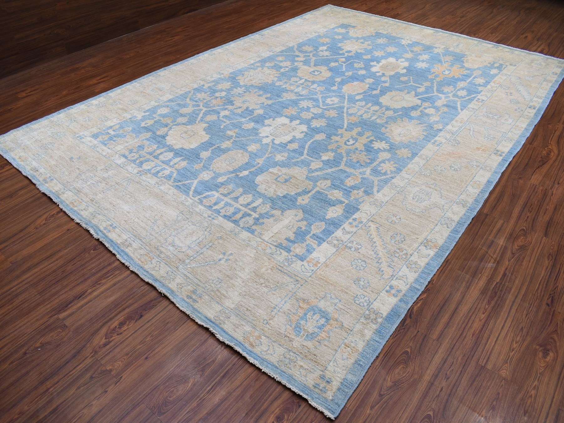 Transitional Wool Hand-Knotted Area Rug 9'9