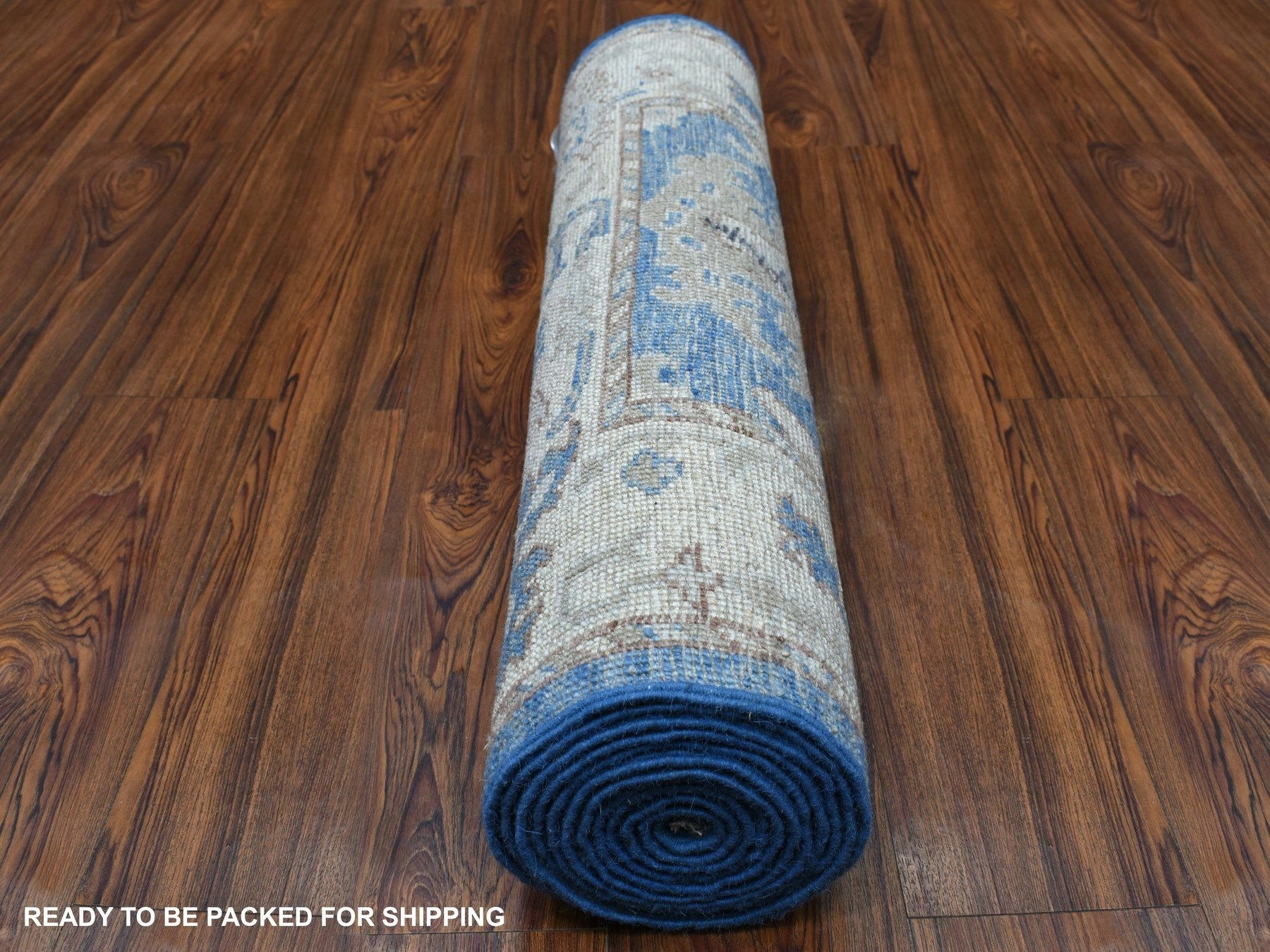 Transitional Wool Hand-Knotted Area Rug 2'9