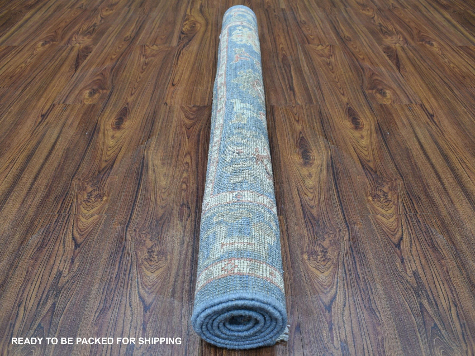 Transitional Wool Hand-Knotted Area Rug 4'2