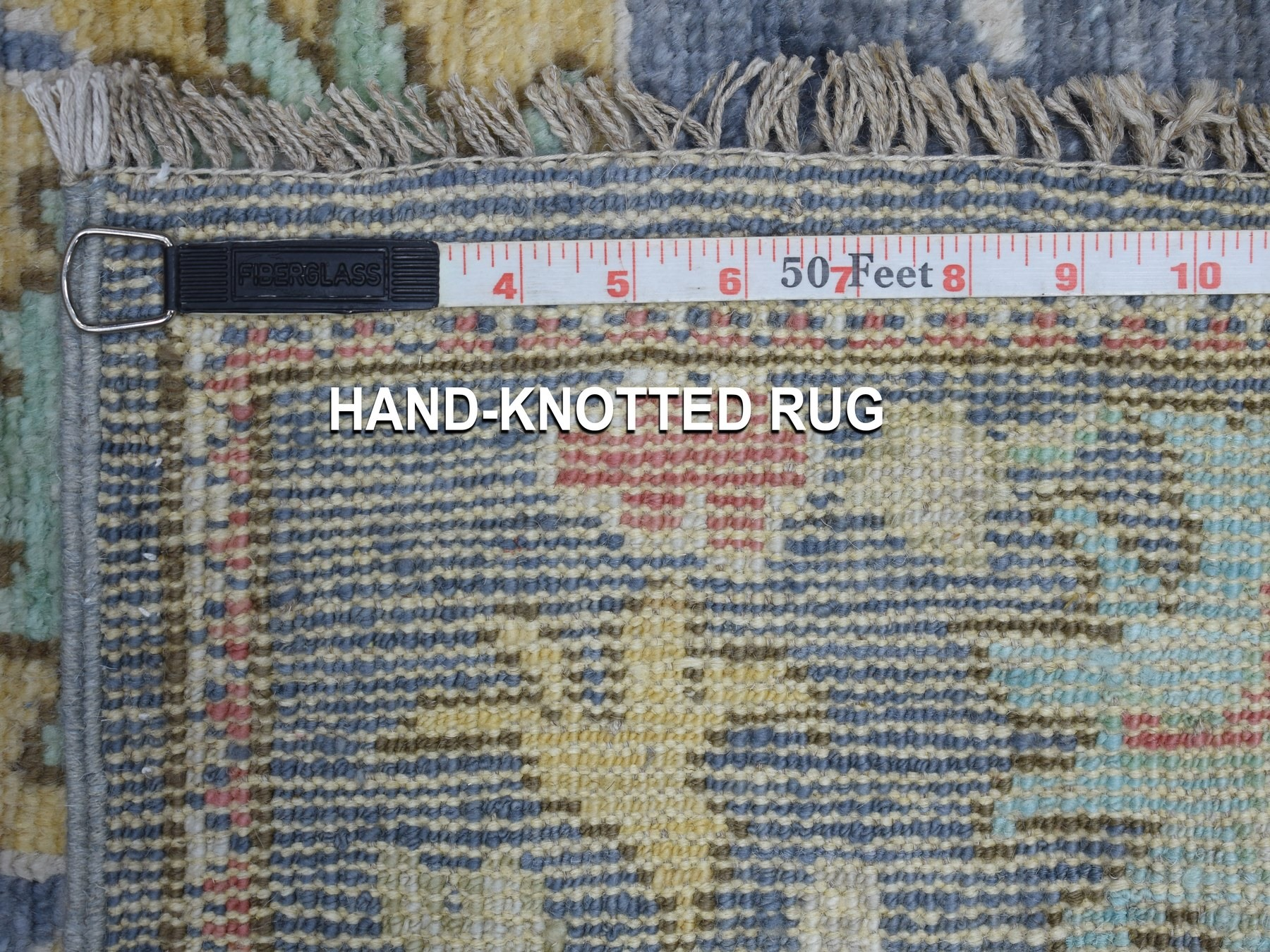 Transitional Wool Hand-Knotted Area Rug 2'8