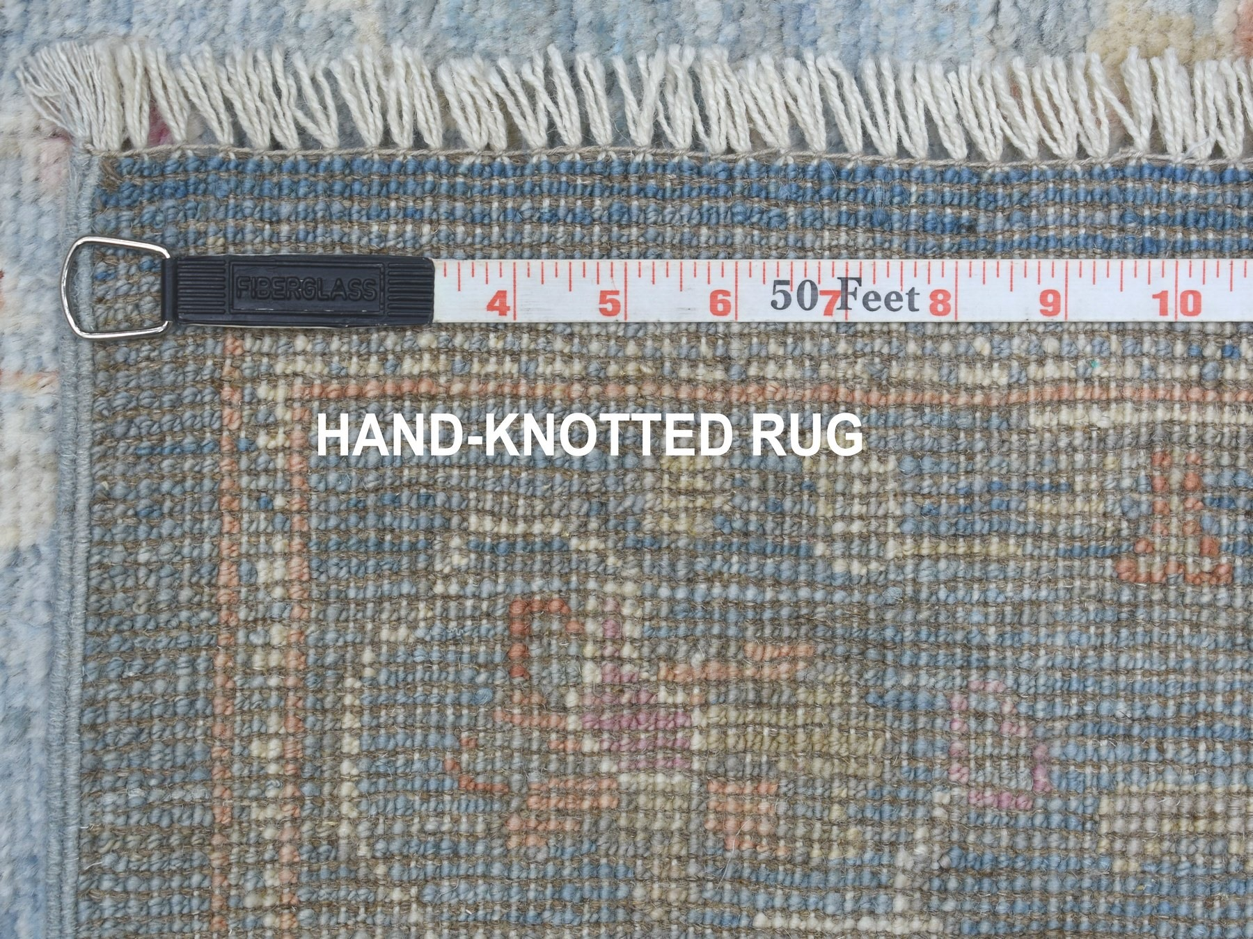 Transitional Wool Hand-Knotted Area Rug 2'7