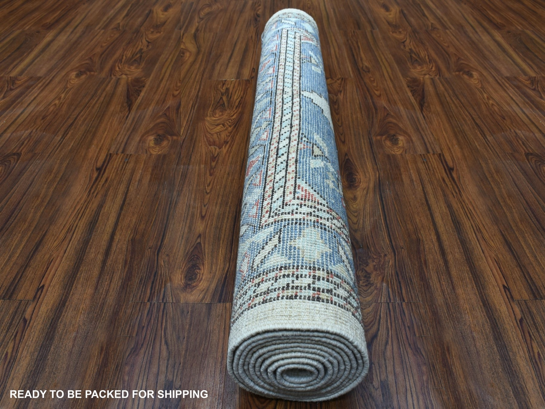 Transitional Wool Hand-Knotted Area Rug 4'1