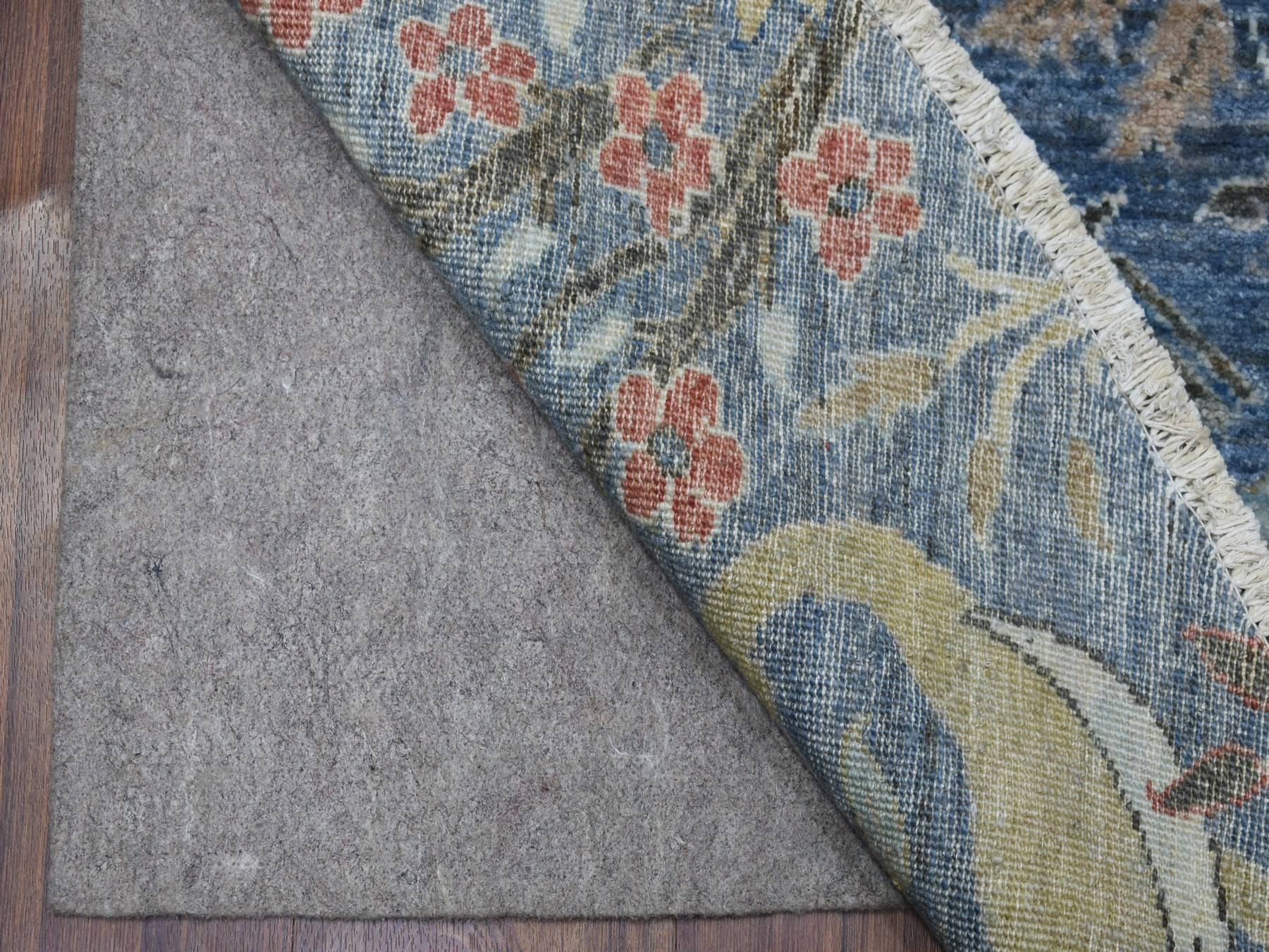 Transitional Wool Hand-Knotted Area Rug 10'1