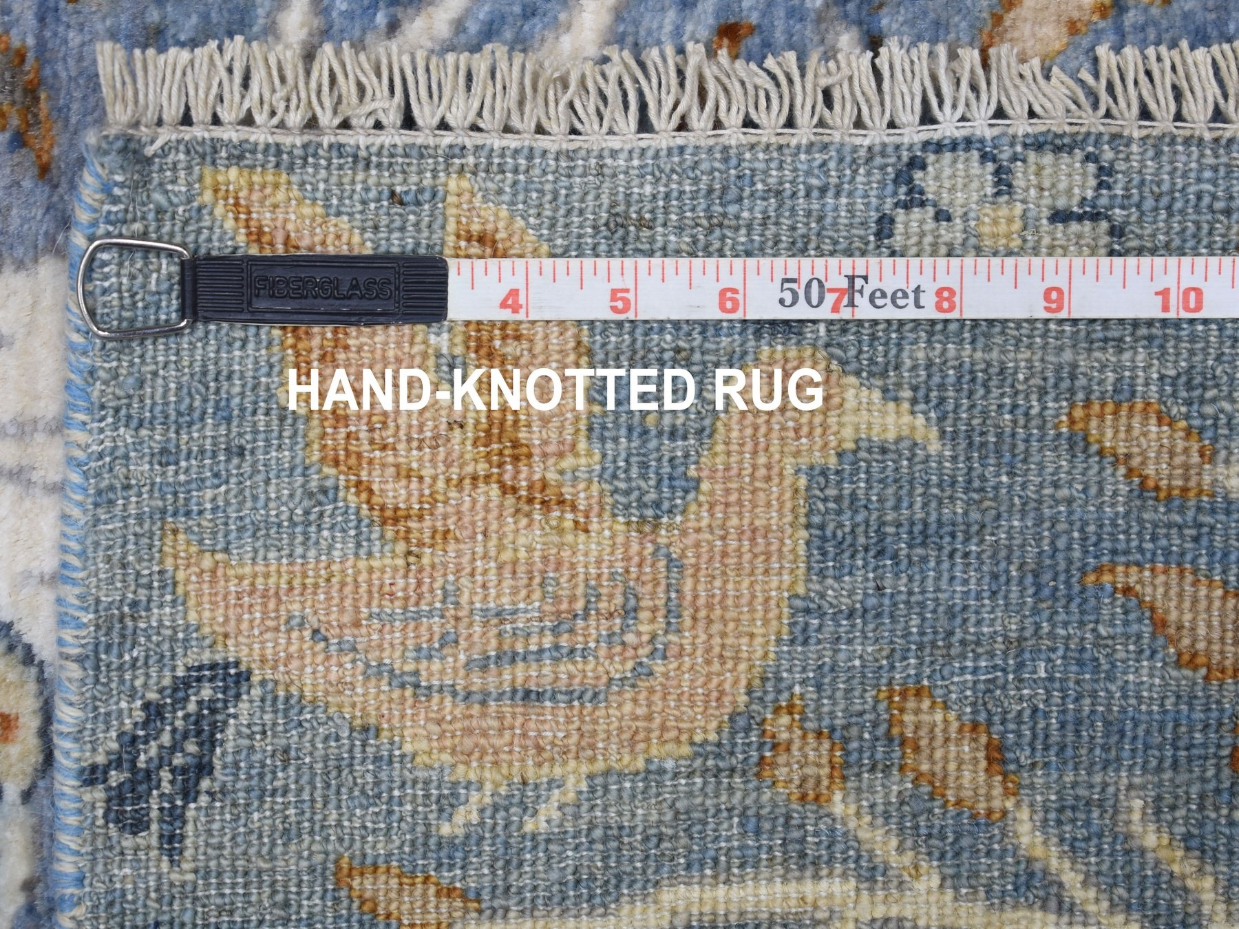 Transitional Wool Hand-Knotted Area Rug 4'0