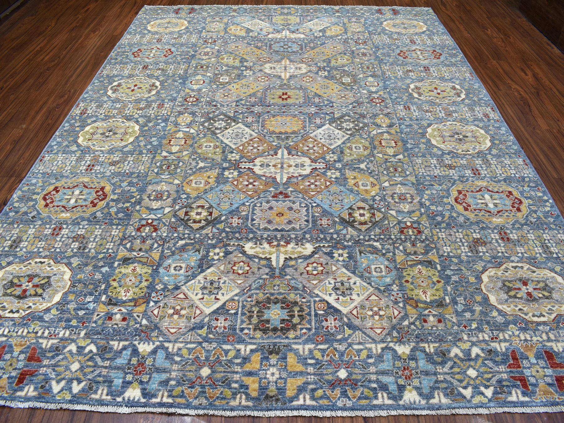Transitional Wool Hand-Knotted Area Rug 9'2