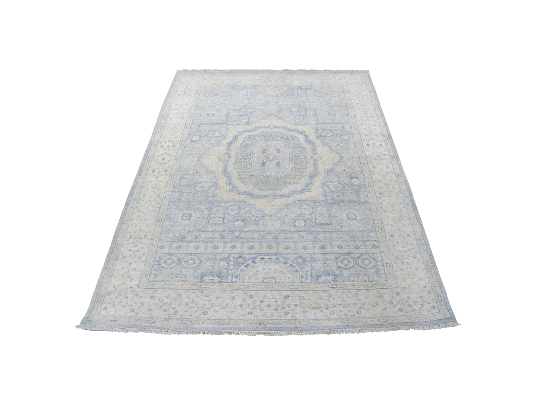 Transitional Wool Hand-Knotted Area Rug 5'0